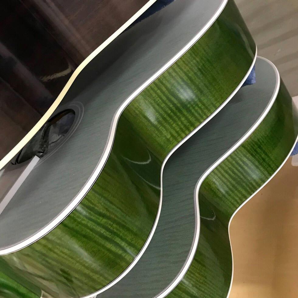 Gitarre grünes Finish