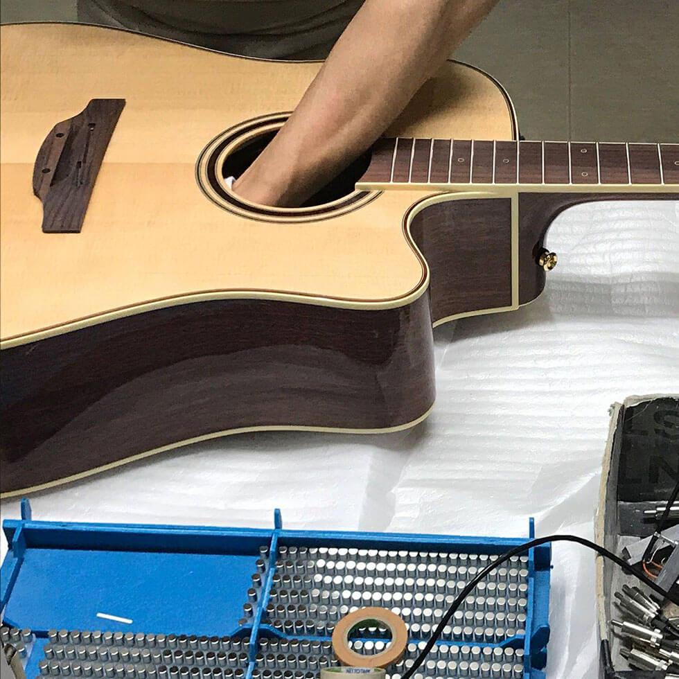 Einbau Gitarren Pickup