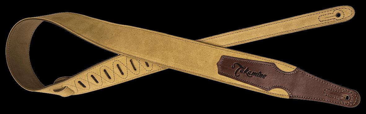 Takamine Gitarrengurt Wildleder beige